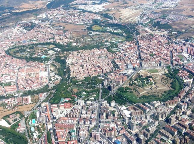 Pamplona desde el aire