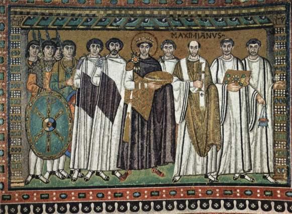 Mosaico de Justiniano en San Vital (Rávena)