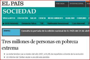 pobreza españa