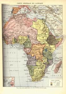 Mapa de África en 1898