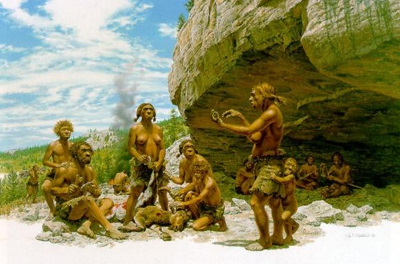 Una familia de neandertales