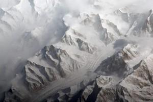 Glaciares en la cordillera del Tian Shan.