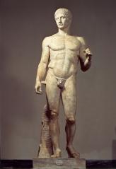 Polícleto: el Doríforo (portador de lanza).  Grecia. período clásico (s. Va.C.)
