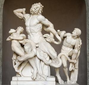 Agesandro, Polidoro y Atenodoro de Rodas: Grupo de Laocoonte y sus hijos. Grecia, período helenístico (s. I a.C.)