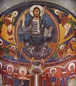 Pantócrator del ábside de Sant Climent de Tahull.  Románico, s. XII.