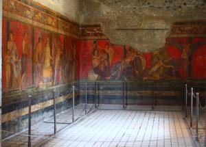 Frescos de la Villa de los Misterios (Pompeya).  Roma, s. I a.C.
