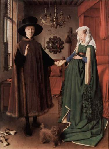 El matrimonio Arnolfini. Jan Van Eyck, 1434.