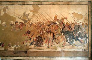 Mosaico de Alejandro en la batalla de Issos. Casa del Fauno (Pompeya). Roma, s. II a.C.
