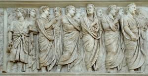 Relieves del Ara Pacis.  Roma, s. I d.C.