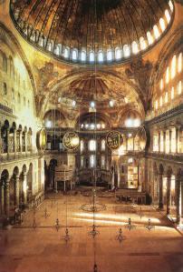 Basílica de Santa Sofía (Constantinopla).  Arte Bizantino, s. VI.