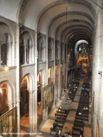 Alzado interior de la catedral de Santiago de Compostela.  Románico, s. XII.