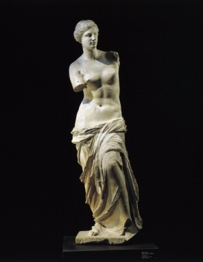 "Marble statue of Aphrodite of Milos known as ""Venus de Milo"" from the Island of Milos, Cyclades, Greece"