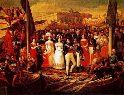 Fernando VII recibe al Duque de Angulema