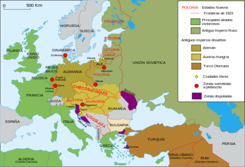 El nuevo mapa de Europa tras la 1ª Guerra Mundial