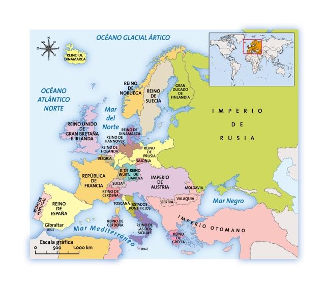 Europa hacia 1848