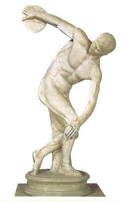 Discóbolo. Miron Copia romana en mármol