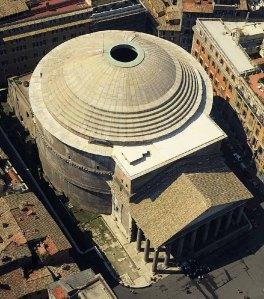 Vista aérea del Panteon