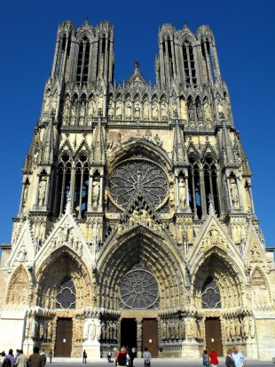 Fachada occidental de la Catedral de Reims