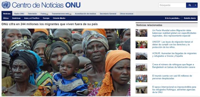 ONU - migraciones
