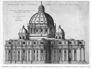 San Pedro del Vaticano. Proyecto de Miguel Ángel