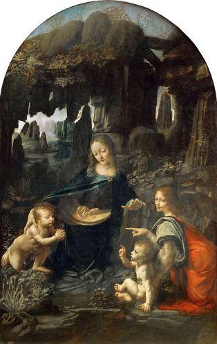 Leonardo da Vinci, la Virgen de las Rocas (versión del Louvre)