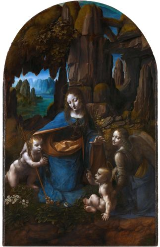 La virgen de las rocas (versión de Londres / National Gallery)