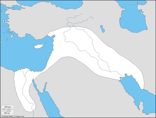 Mesopotamia y Egipto - mapa mudo
