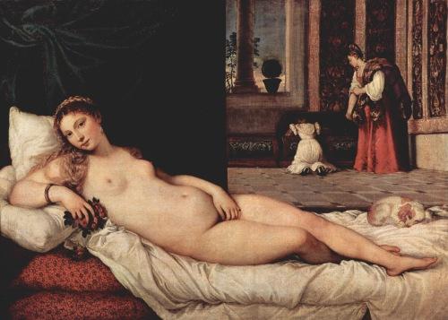 Tiziano - La Venus de Urbino2 - 1538 - Galeria degli Uffici