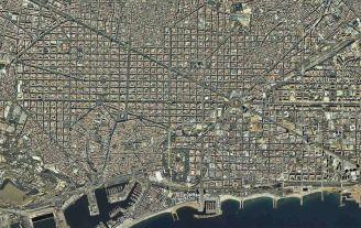 Imagen de satélite de Barcelona