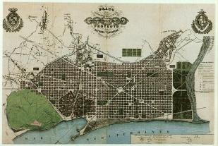 Plano del Ensanche de Barcelona de I. Cerdá