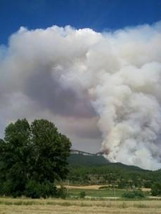 Incendio Sierra de Oña