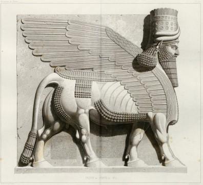 Lamassu (toro alado) asirio
