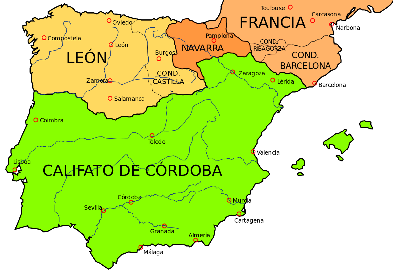Califato Córdoba - mapa
