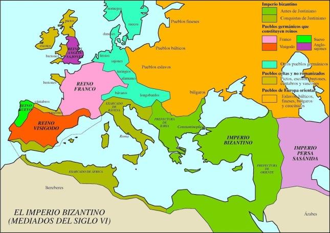 Mapa siglo VI