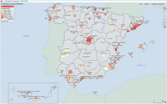 Areas urbanas en España