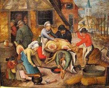 edad-media-cocinando-cerdo