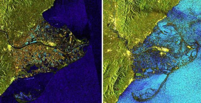 Delta del Ebro - antes y después