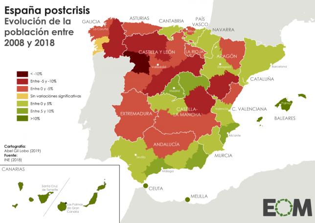 Dinamismo demográfico en España