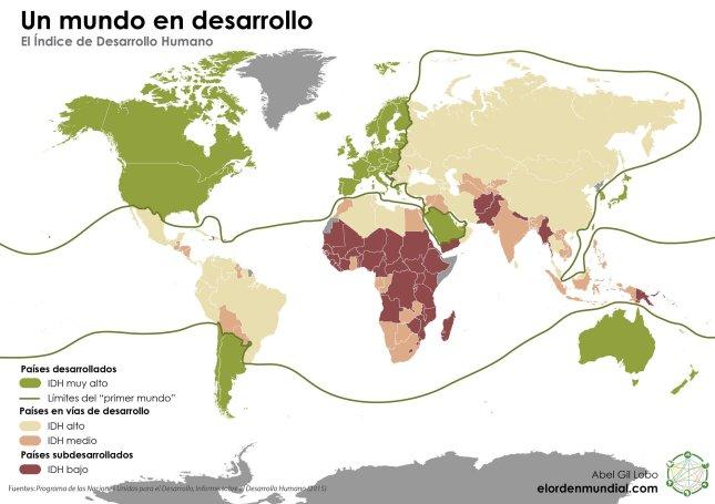 El IDH en el mundo